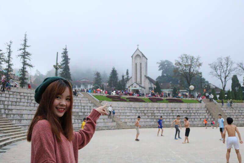 nhà thờ đá sapa du lịch sapa